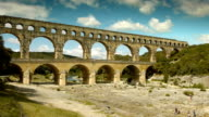 Aqueduct of Pont du Gard video