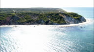 Aquinnah Cliffs - Aerial View - Massachusetts,  Dukes County,  United States video