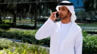 Arab businessman on the phone video