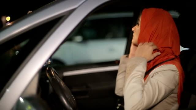 A Arab woman in the car video