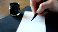 Arabic calligraphy: writing the letter Kaaf video