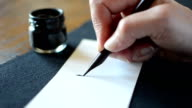 Arabic calligraphy: writing the letter Laam video