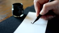 Arabic calligraphy: writing the letter Yaa video