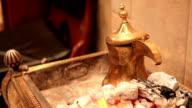 Arabic style coffee video