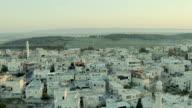 Arabic vilage in Israel. Aerial panoramic view video
