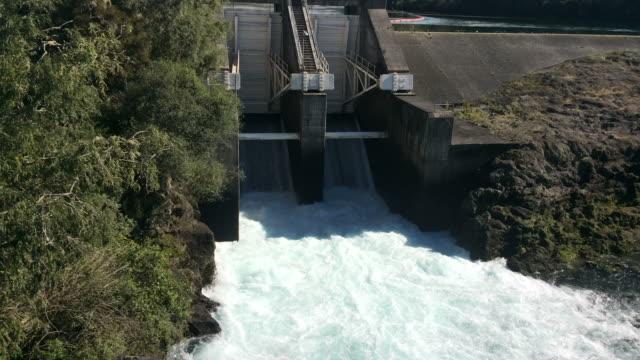 Aratiatia Rapids Dam opened spill gates video