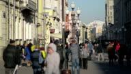 Arbat Street in Moscow video