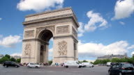 Arc de Triomphe in Paris, France video