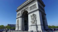 4K Arc de Triomphe, Paris - Driving past video