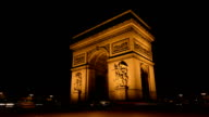 TIME LAPSE: Arc de Triomphe Paris video