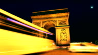 Arc de Triomphe Time Lapse in Paris video