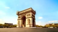 Arc de triomphe timelapse video
