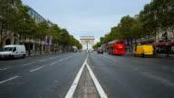 Arc de Triumph, Paris France 4K time lapse video