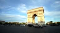 Arc de Triumph, Paris France full HD video