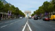 Arc de Triumph, Paris France time lapse video