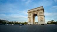 Arc de Triumph, Paris France time lpase video
