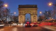 Arc de triumph-Paris France Time Lapse video