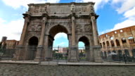 Arch of Constantine Rome video