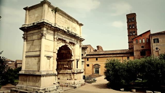 Arch of Titus in Roman Forum video
