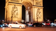 Arch Of Triumph by Night 2, Paris video