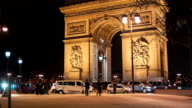 Arch Of Triumph by Night 3, Paris video