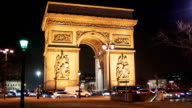 Arch Of Triumph by Night 4, Paris video