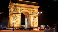 Arch Of Triumph by Night 5, Paris video