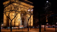 Arch Of Triumph by Night, Paris video