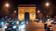 Arch Of Triumph & Champs Elysees By Night 4 video