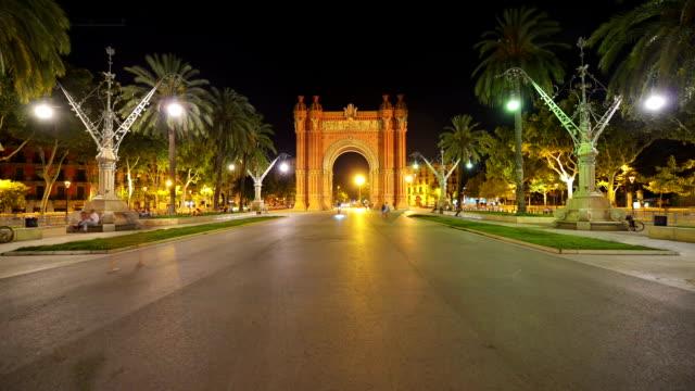 Arch of Triumph in Barcelona, Spain video
