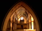 Arched ceiling of old church video