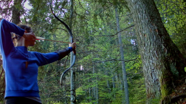 Archer hunt in the forest video