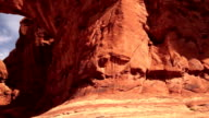 Arches National Park Rock Formations Double Window Arch Panning video