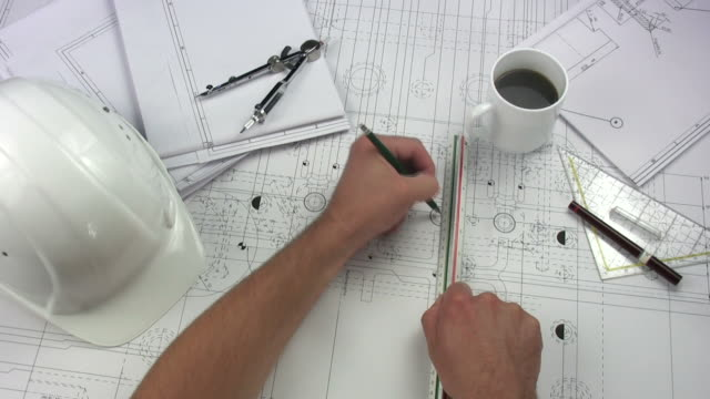 Architect having coffee break video