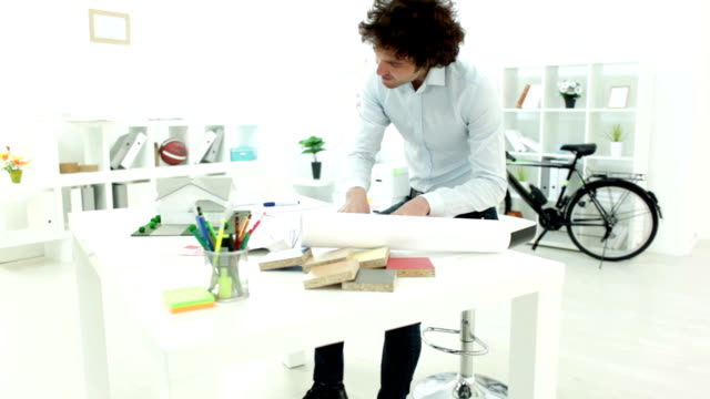 HD: Architect Working At His Office. video