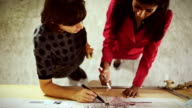 Architects teamwork women in the startup office video