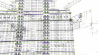 Architectural and constructional schemes, looped background video