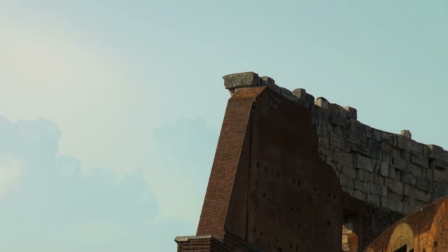 Architectural detail of the Colosseum in Rome, Italy video