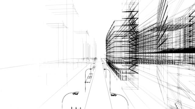 3D architecture abstract video