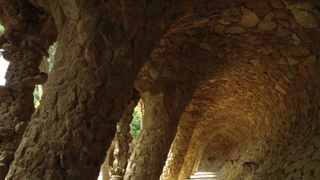 Architecture detail at Park Guell video