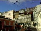 Architecture in Coimbra Portugal with Trolley Cabling video