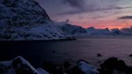 Arctic Coastline at Dusk video