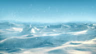 Arctic Landscape With Snow Falling video