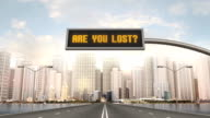 Are You Lost Traffic Sign video