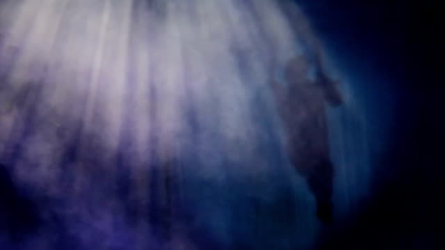 Areial shadow performance in the circus video