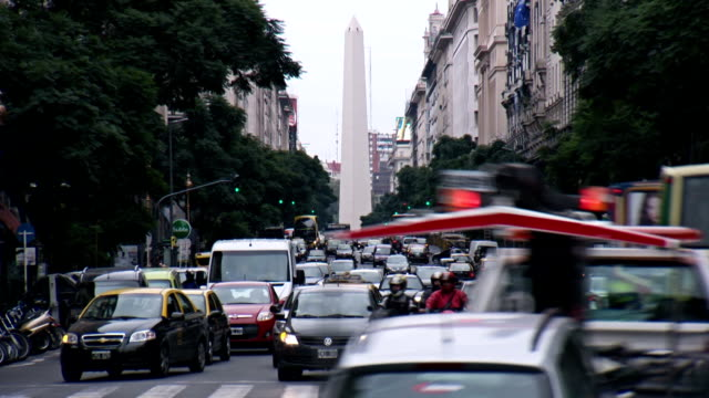 Argentina Buenos Aires monument time lapse video