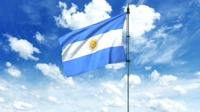 Argentina flag animation, alpha channel video