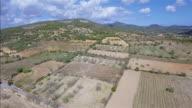 Arial View of Majorca coastal plains near by Santuario de la Consolación - S'Alqueria Blanca - Santanyí / Balearic Islands, Spain video