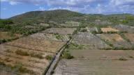 Arial View of Majorca plains near by Santuario de la Consolacion - S'Alqueria Blanca - Santanyí / Balearic Islands, Spain video