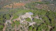 Arial View of The sanctuary of Mare de Déu de la Consolació (Consolation Sanctuary) , Majorca / Spain video
